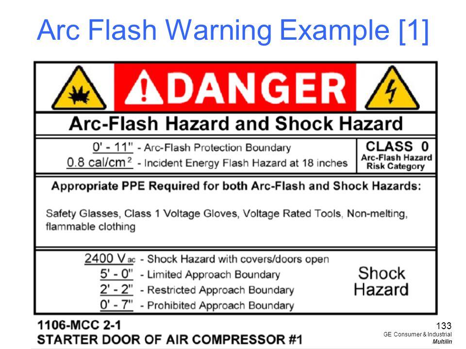 Arc Flash Warning Example [1]